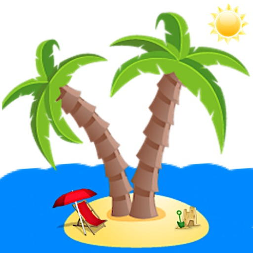Summer And Beach Icon Sticker