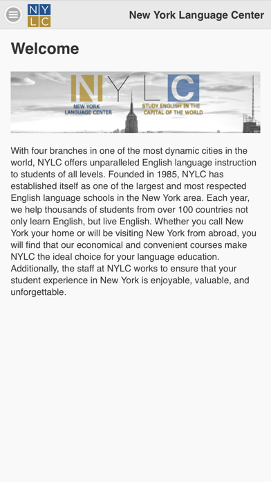 New York Language Center screenshot one