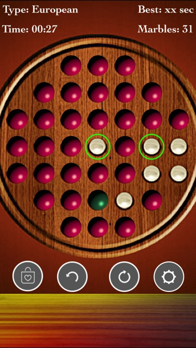 Brainvita Peg Solitaire Game screenshot 1