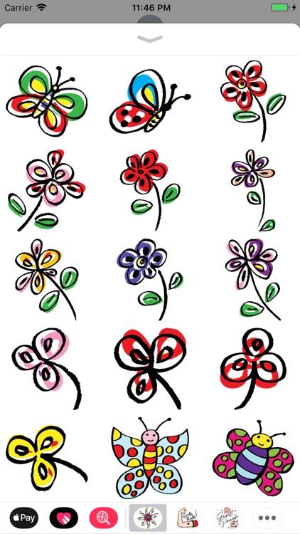 Hand Drawn Flower Collection screenshot-5