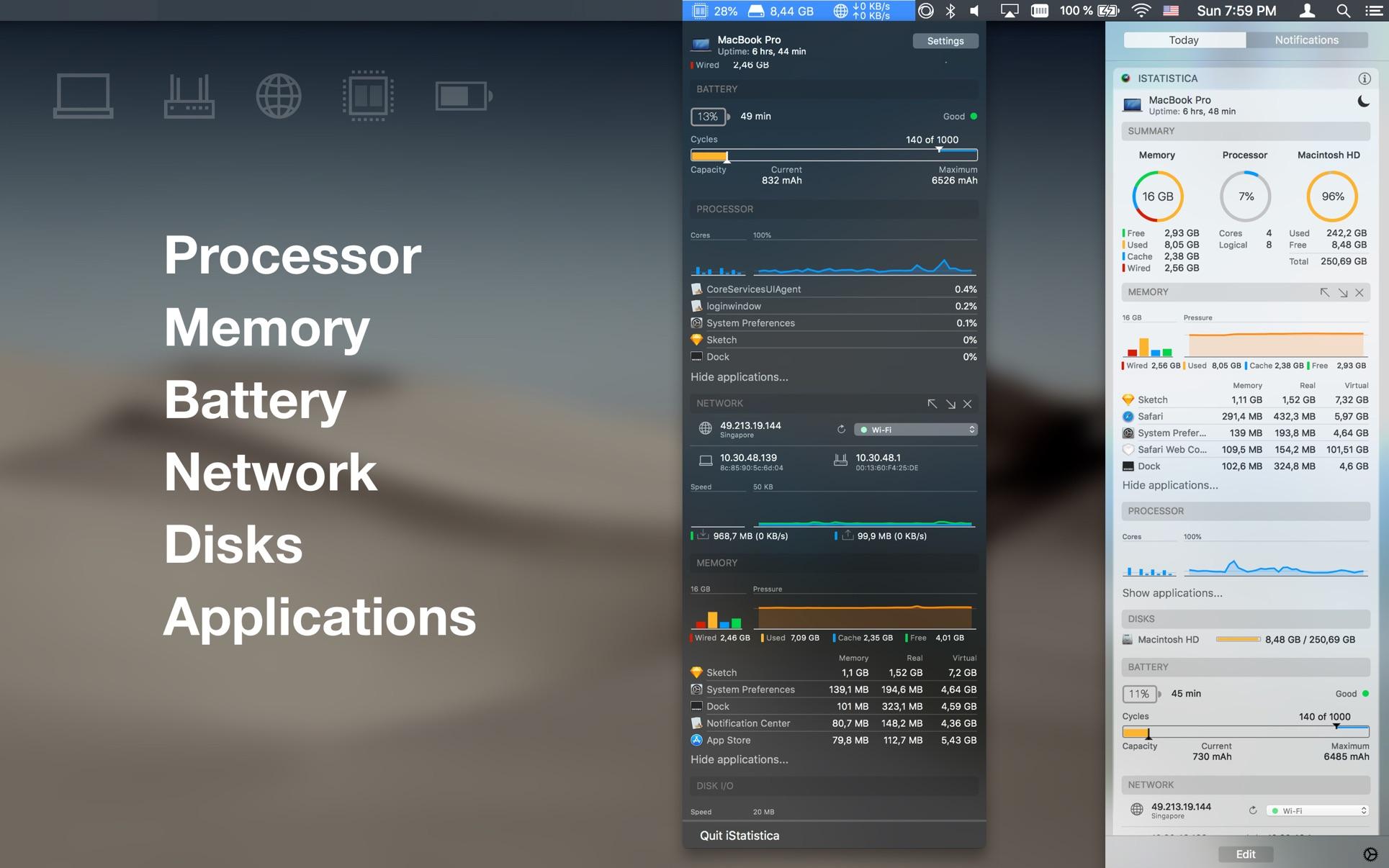 iStatistica Mac 破解版 系统监控软件-麦氪搜(iMacso.com)