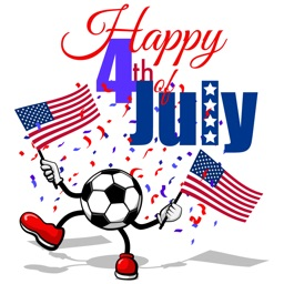 Soccer 4th of July Stickers