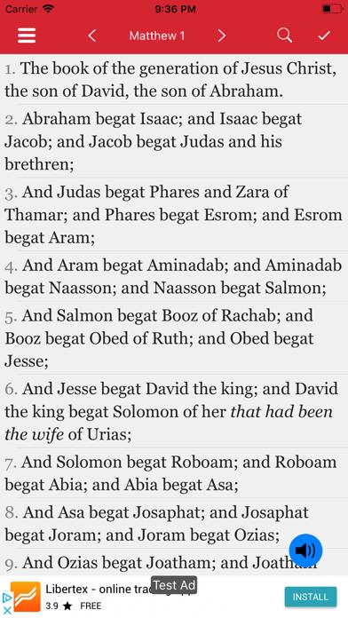 New Testament - KJV screenshot two