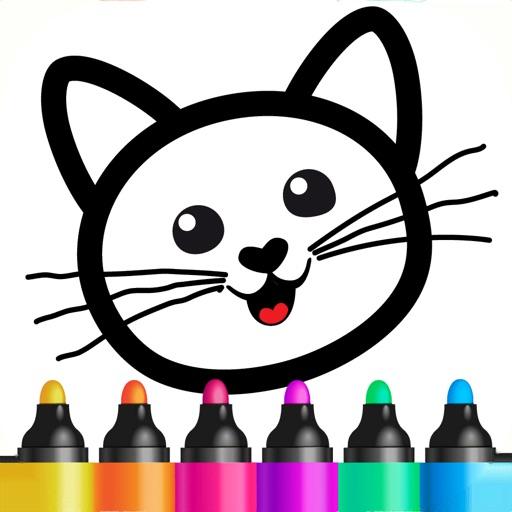 """子供のための絵画練習""""線をなぞりましょう!"""