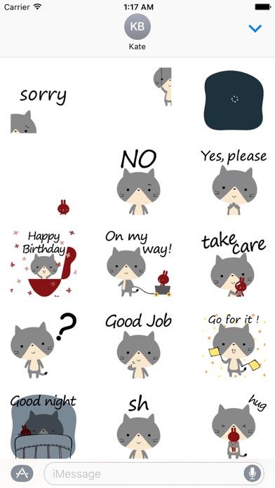 Animated Sentiment Cat Sticker screenshot 1