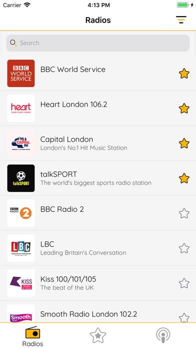 UK Radio - FM Radios & Podcast screenshot one