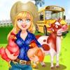 農家への修学旅行アイコン
