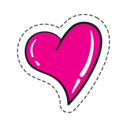 Love Heart Stickers Pro
