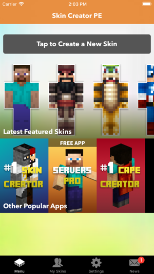 Skin Creator PE For Minecraft On The App Store - Skins para minecraft pe ipad