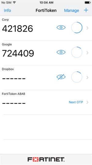 FortiToken Mobile on the App Store
