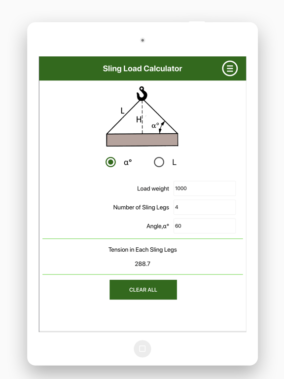 4 Leg Sling Calculation