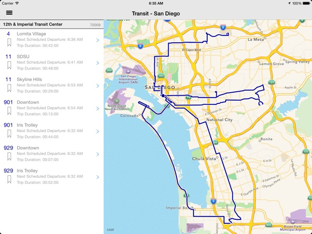 Transit Tracker - San Diego on the App Store