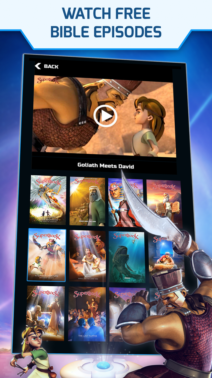 Superbook Kids Bible Screenshot