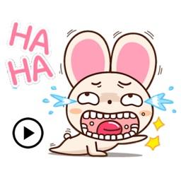 Animated Humor Rabbit Sticker