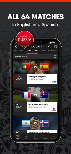 FuboTV - xem bong da truc tiep tren iOS