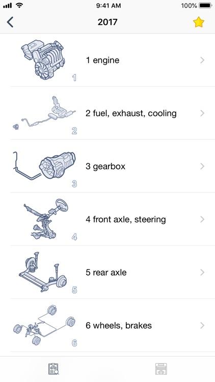 Car parts for Audi - diagrams screenshot-6