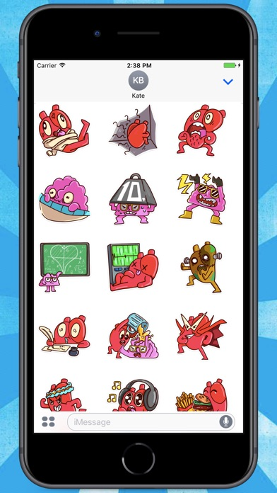 Screenshot for Heart and Brain! Stickers in Belgium App Store