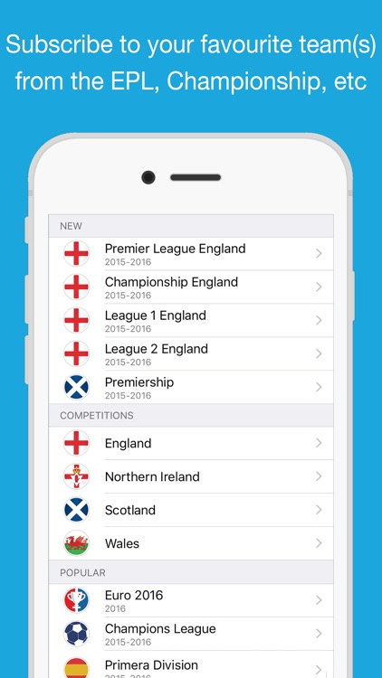 Fixtures for iPhone Calendar