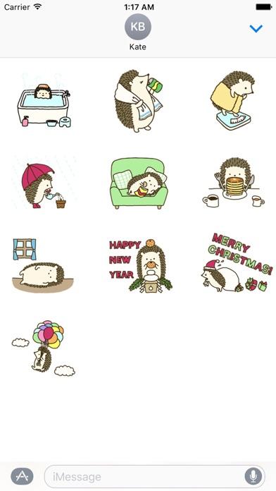 Diary Of Cute Hedgehog Sticker screenshot 3