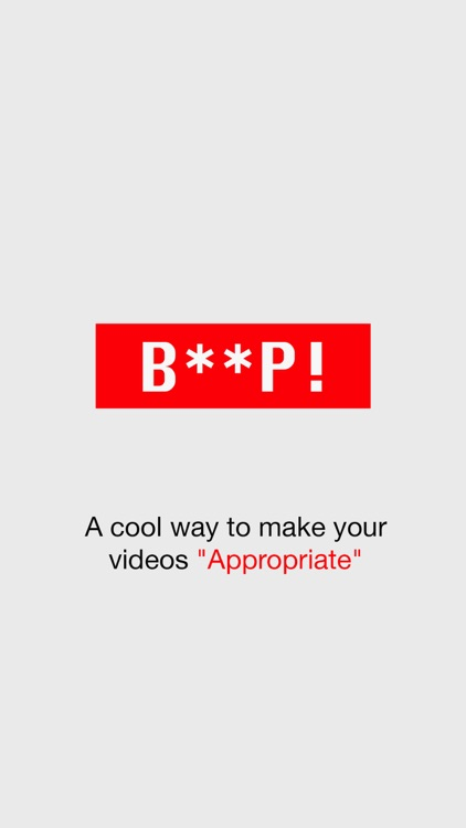 Beep - Censor videos easily
