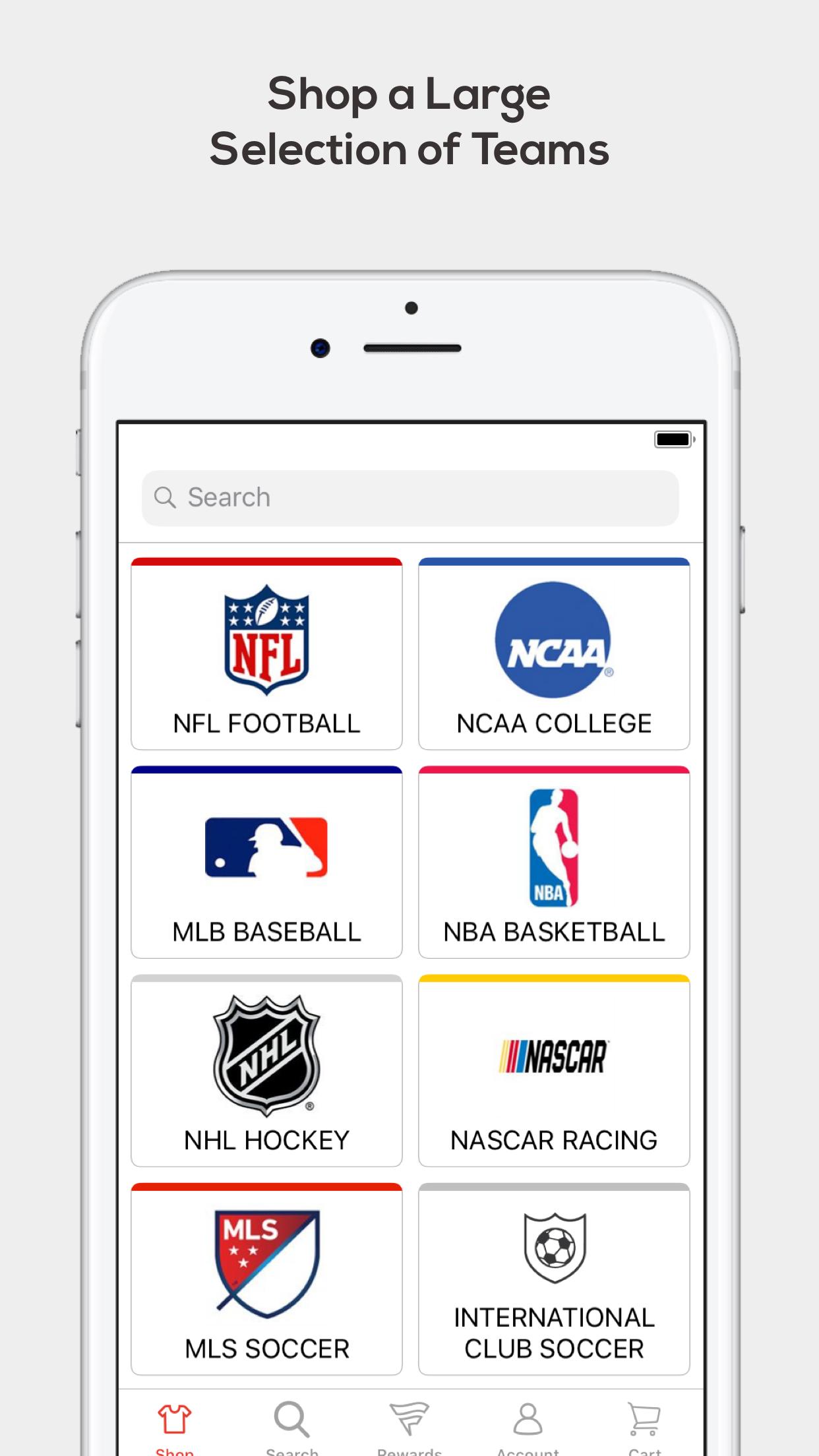 Fanatics: Gear for Sports Fans Screenshot