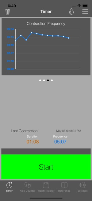 full term contraction timer on the app store