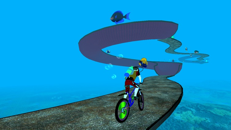 Underwater Crazy Bicycle Race screenshot-3
