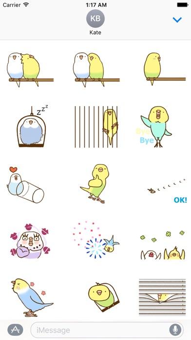 Animated Lovely Budgie Sticker Screenshot