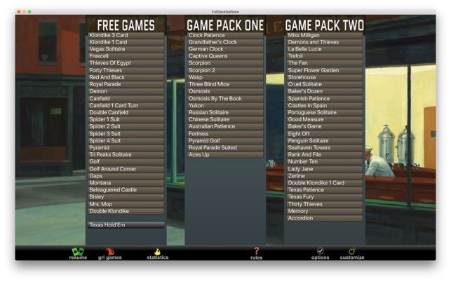 free download solitaire for mac os x