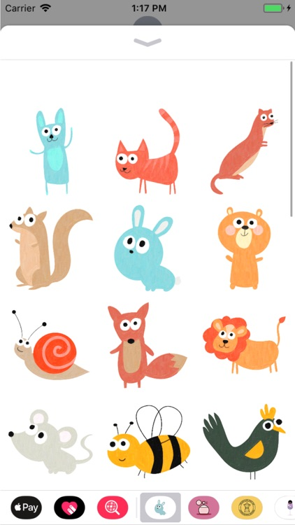 Cute Animal Meadow Stickers