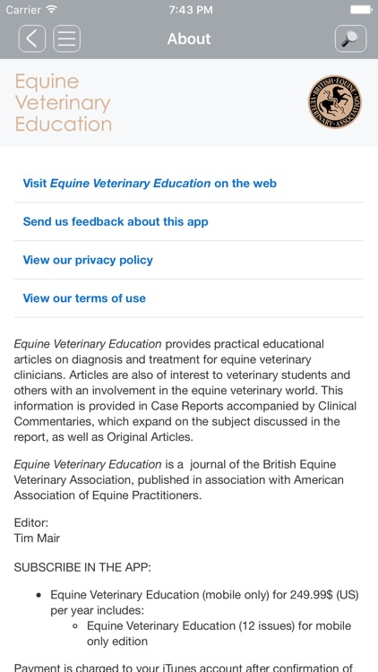 Equine Veterinary Education