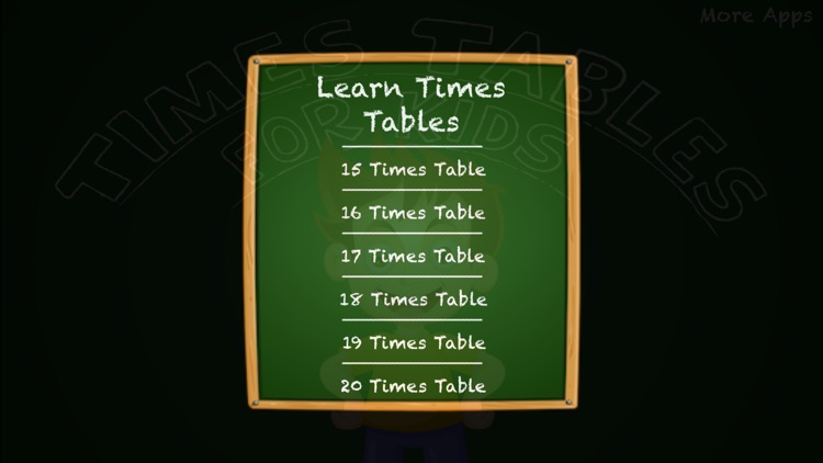 Times Tables For Kids - Full