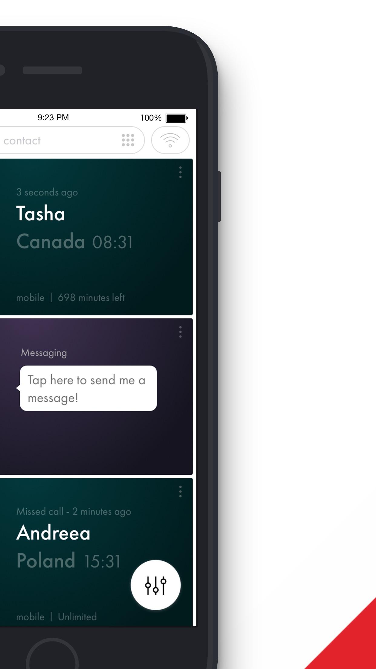 Rebtel Screenshot