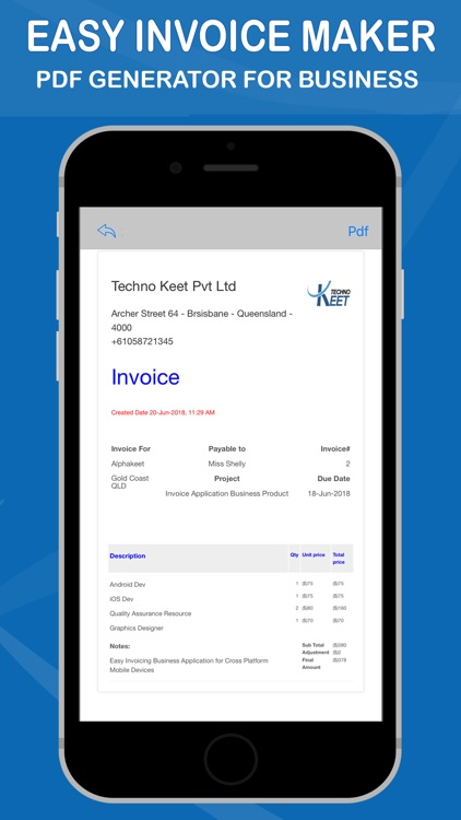 easy invoice maker by techno keet pvt ltd