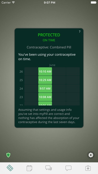 Mypill Birth Control Reminder review screenshots