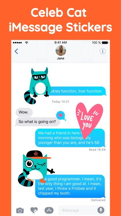 Granny Cat Funny Stickers App