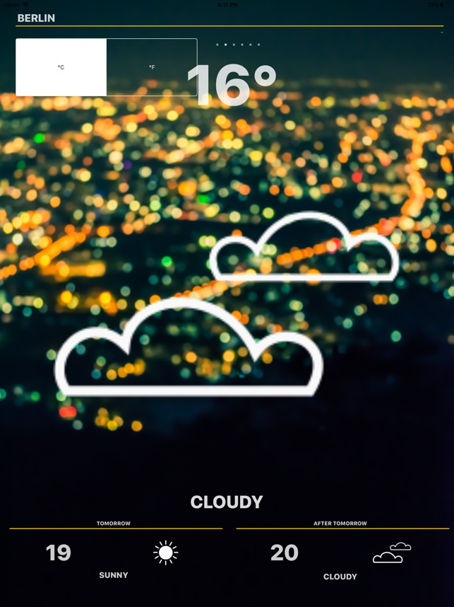 Weather - Global Forecast Screenshot