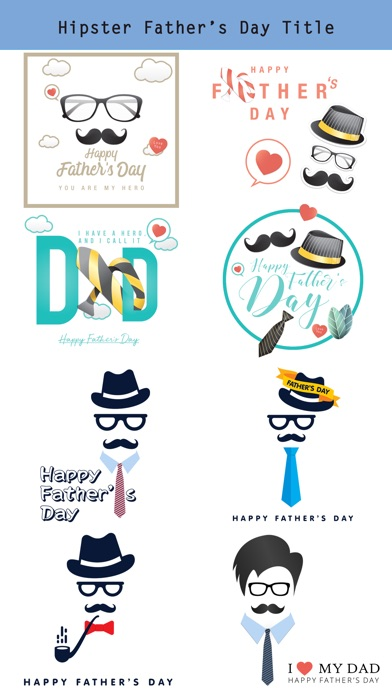 Hipster Happy Father's Day screenshot 2