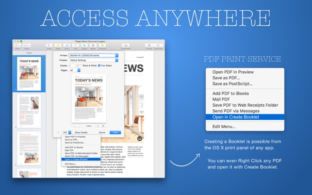 create booklet 2 on the mac app store
