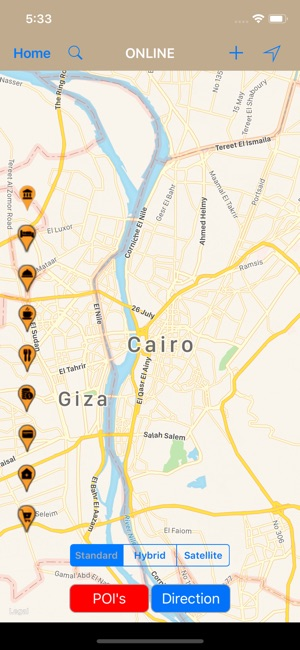 Cairo Egypt Travel Map On The App Store