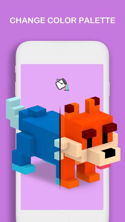 Voxel - 3D Color by Number screenshot-5