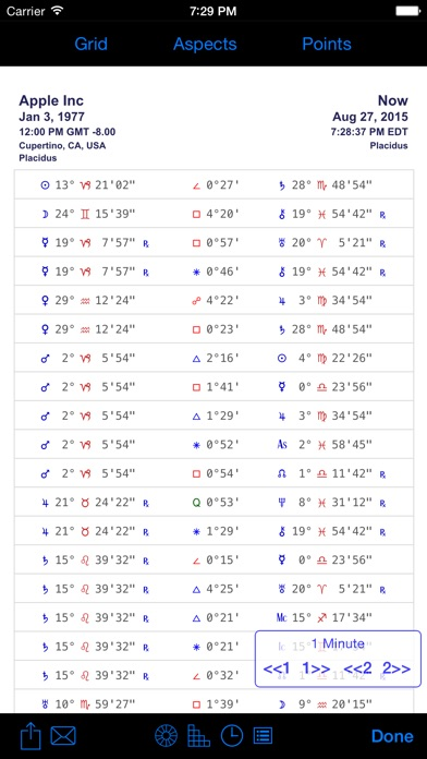 iPhemeris Astrology Charts screenshot three