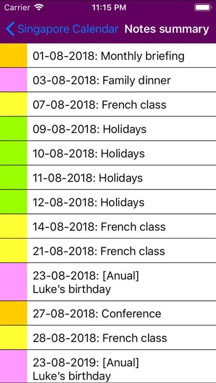 2019 Singapore Calendar screenshot-4