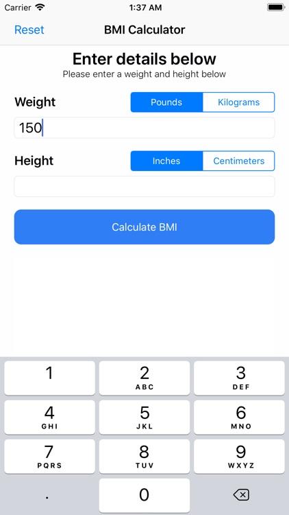 BMI Calculator++ screenshot-6
