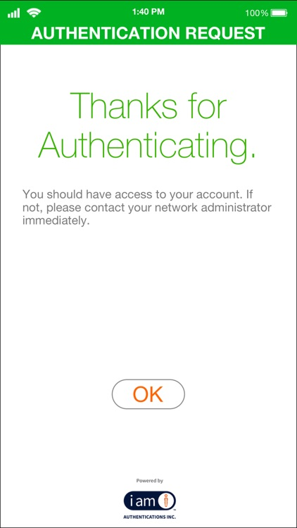 IAmI Authentication