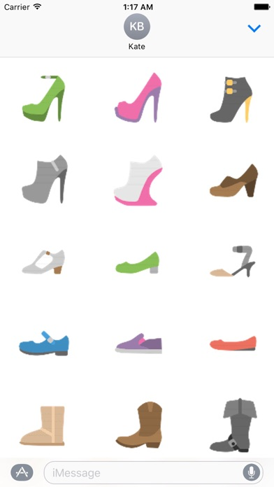Clothes And Shoes Icon Sticker screenshot 6