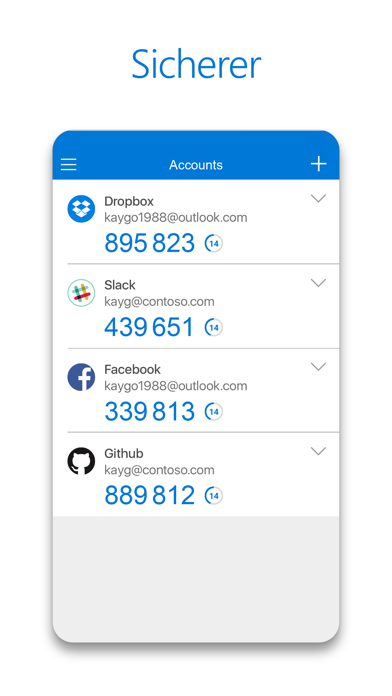 Microsoft AuthenticatorScreenshot von 3