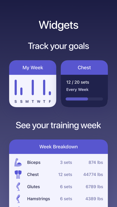 Screenshot #1 pour Liftr - Workout Tracker