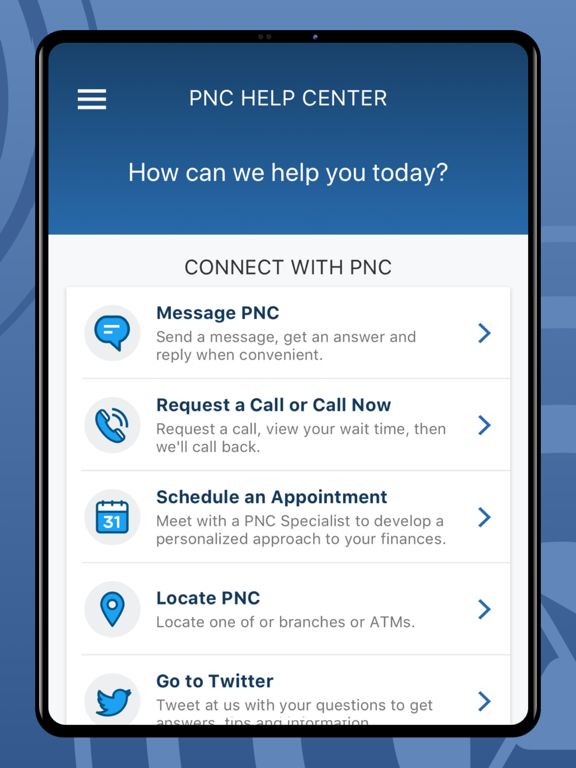 iPad Image of PNC Mobile Banking