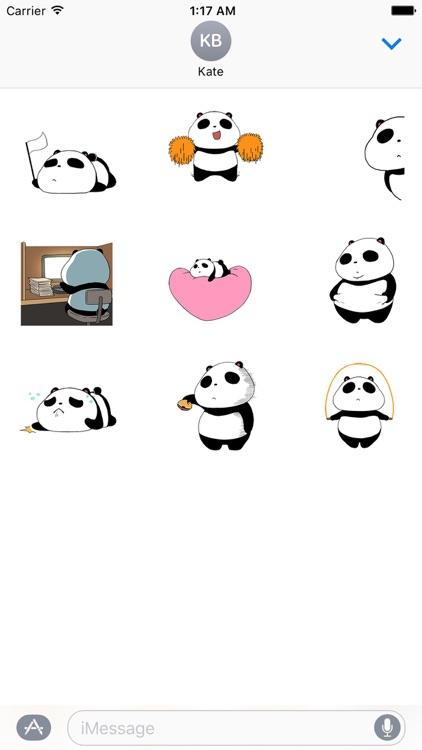 Panda a Dancer Stickers